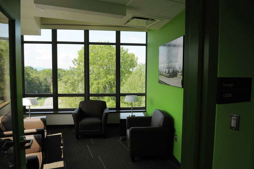 A View Of Study Lounge On An Upper Floor Inside Liberty Terrace Student Housing During