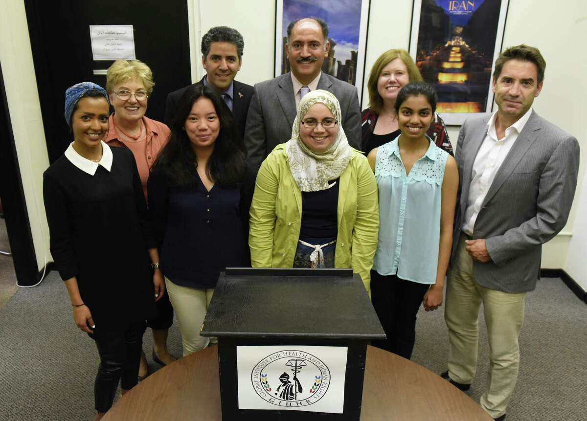 The Global Institute for Health & Human Rights refugees project staff at UAlbany on Friday Aug. 26, 2016 in Albany, N.Y. (Michael P. Farrell/Times Union)