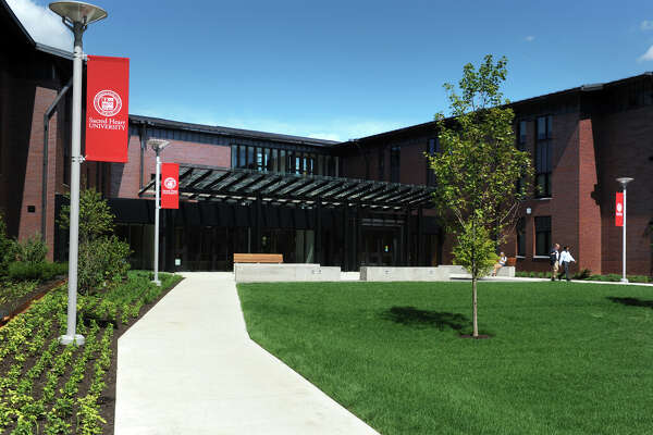 Sacred Heart University held a dedication ceremony and ribbon cutting for Jorge Bergoglio Hall, a new residence hall named after Pope Francis on the campus in Fairfield on Tuesday.