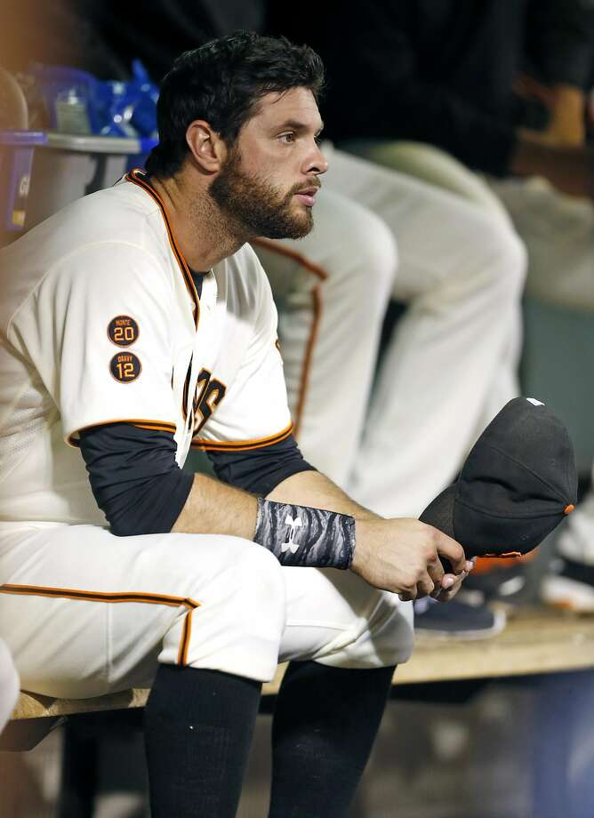 San Francisco Giants' Brandon Belt against Arizona Diamondbacks during MLB game at AT&T Park in San Francisco, Calif., on Tuesday, August 30, 2016. Photo: Scott Strazzante, The Chronicle