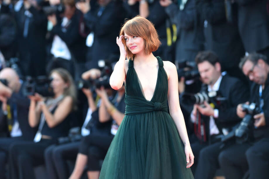 2014  Emma Stone attends the Opening Ceremony and 'Birdman' premiere during the 71st Venice Film Festival at Palazzo Del Cinema  on August 27, 2014 in Venice, Italy.  (Photo by Jacopo Raule/WireImage) Photo: Jacopo Raule, WireImage
