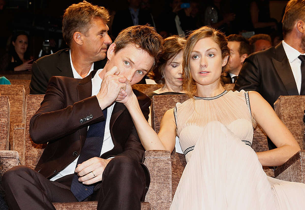 Actor Eddie Redmayne and Hannah Bagshawe attend a premiere for 'The Danish Girl' during the 72nd Venice Film Festival at on September 5, 2015 in Venice, Italy. (Photo by Tristan Fewings/Getty Images)