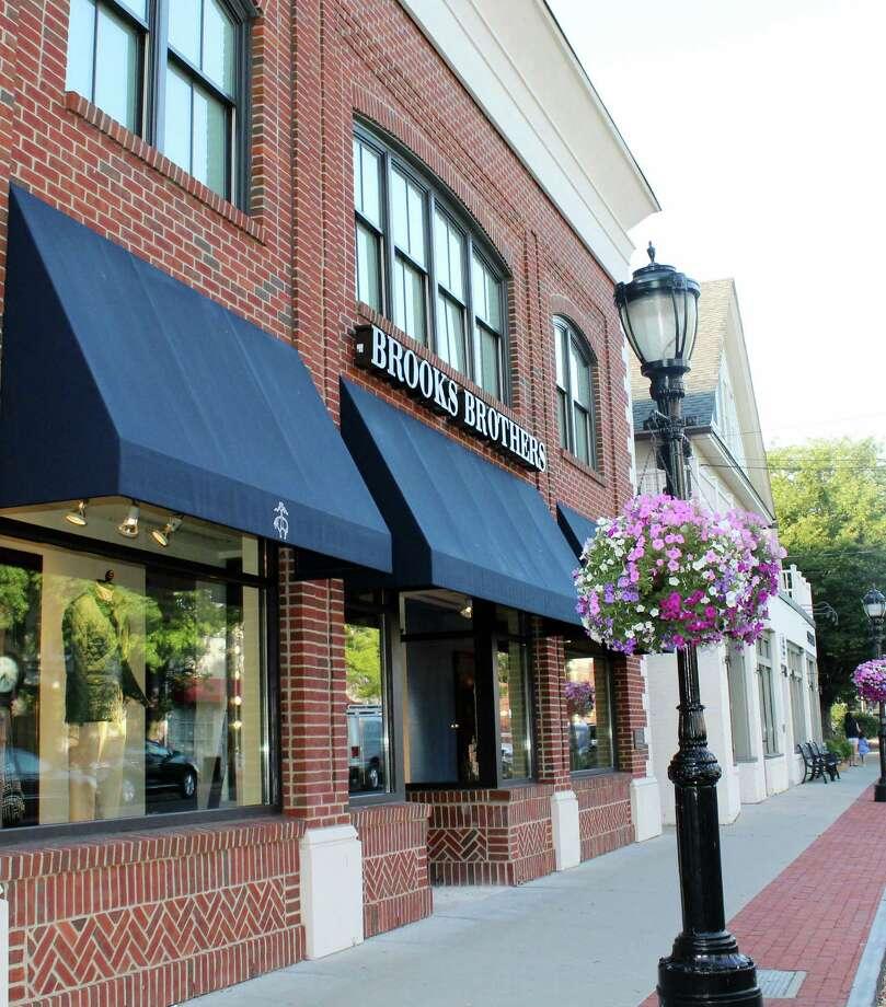 Retailers like Brooks Brother in downtown Darien, CT reaped the benefits of tax free week last week in Aug. 2016. Photo: Erin Kayata / Hearst Connecticut Media / Darien News