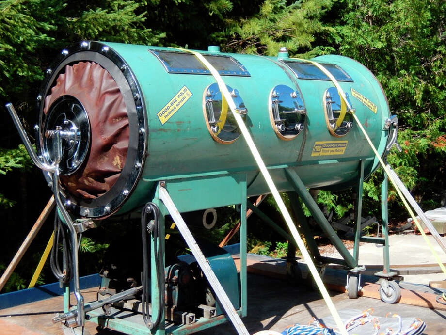 The Midland Rotary Club and Midland Morning Rotary Club will display an iron lung on loan from the Cheboygan Rotary Club throughout the Labor Day weekend in order to raise awareness of the devastating effects of the polio virus.