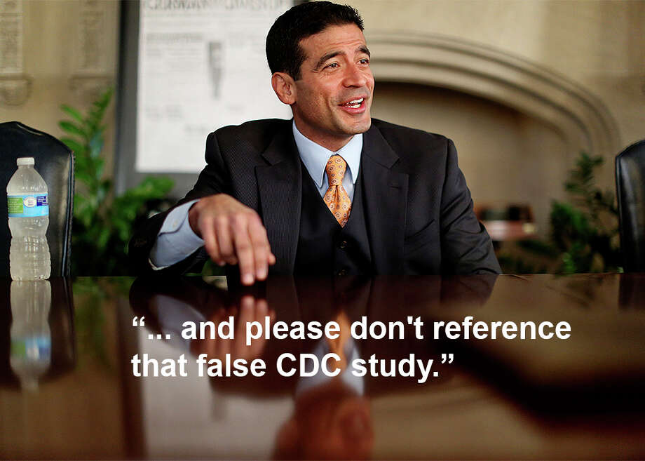 """You are the fool with your head in the sand. You have no science that supports your position and please don't reference that false CDC study. Have you seen Vaxxed or are you the typical zealot without an open mind?"" Photo: Lisa Krantz/San Antonio Express-News"