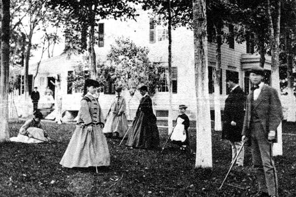 In 1865 croquet is played at the Andrew Bulkley House.