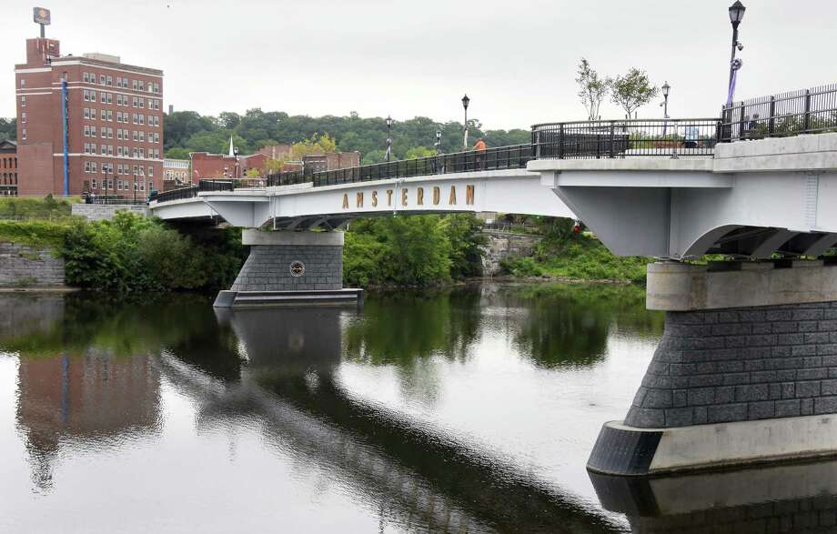 The Mohawk Valley Gateway Overlook Pedestrian Bridgeofficially opens Wednesday Aug. 31, 2016 in Amsterdam, NY.Click through the slideshow to view the celebration and keep clicking to see how other landmarks got their start in the Capital Region. Photo: John Carl D'Annibale / 20037853A