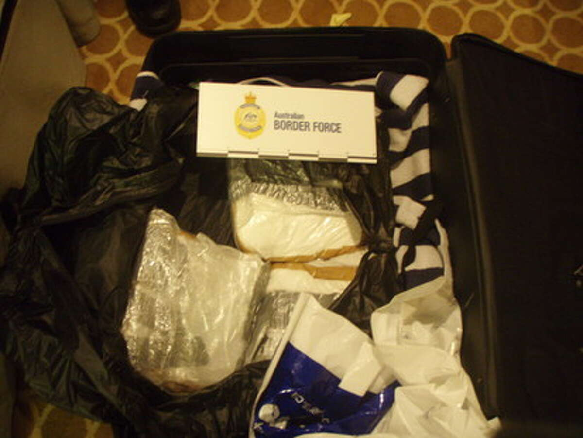 Photos taken by the Australian Government's Department of Immigration and Border Protection in Aug. 28, which resulted in 95 kilograms of cocaine discovered in the luggage of three tourists from Quebec.