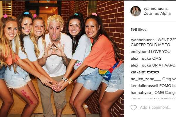 "@ryannehuens: ""I WENT ZETA BC AARON CARTER TOLD ME TO"""