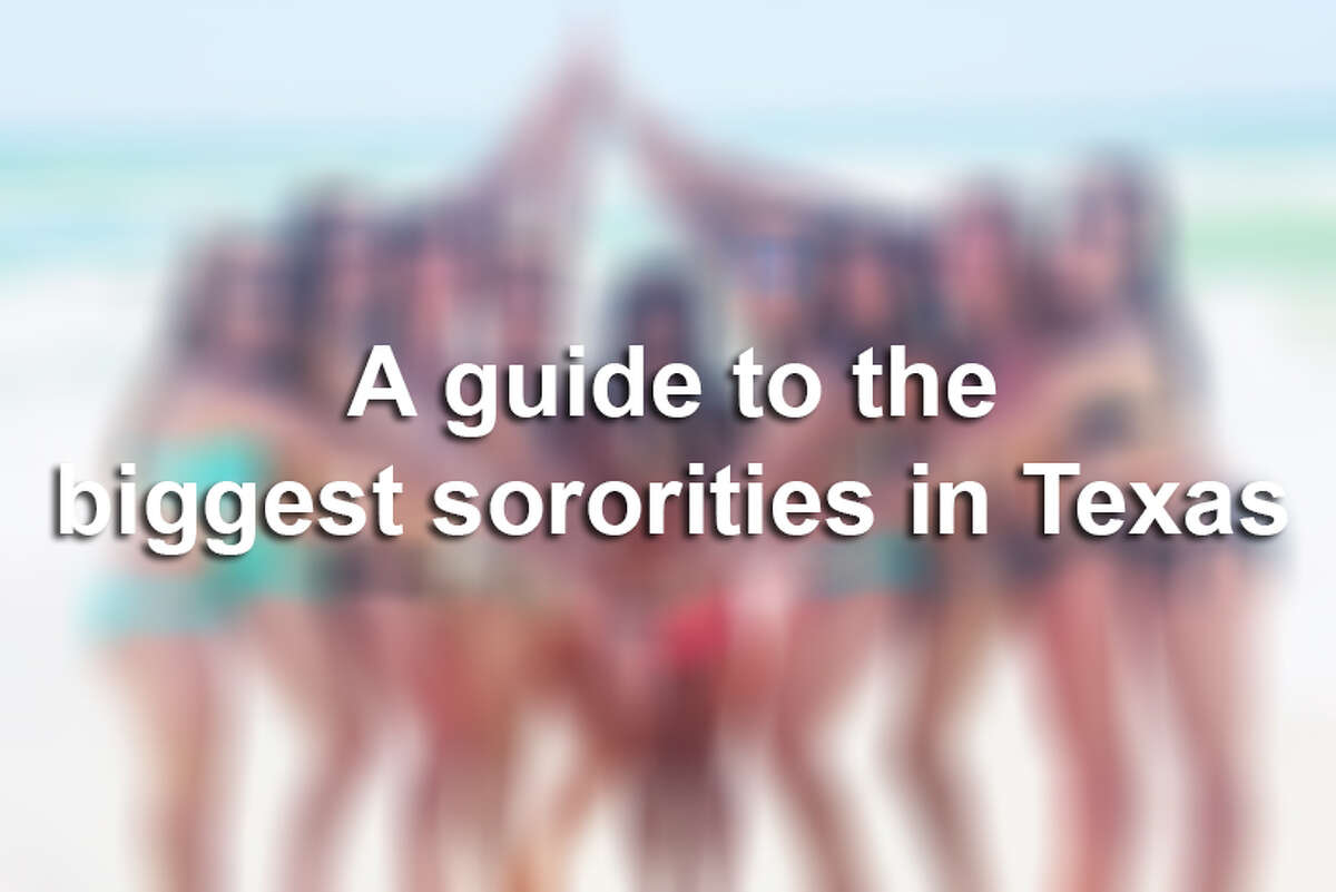 Keep clicking to view the largest sorority chapters at some of the Texas' biggest universities.