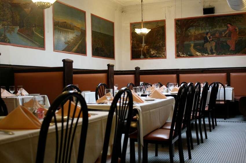 Dining room of Lombardo's Restaurant in Albany.
