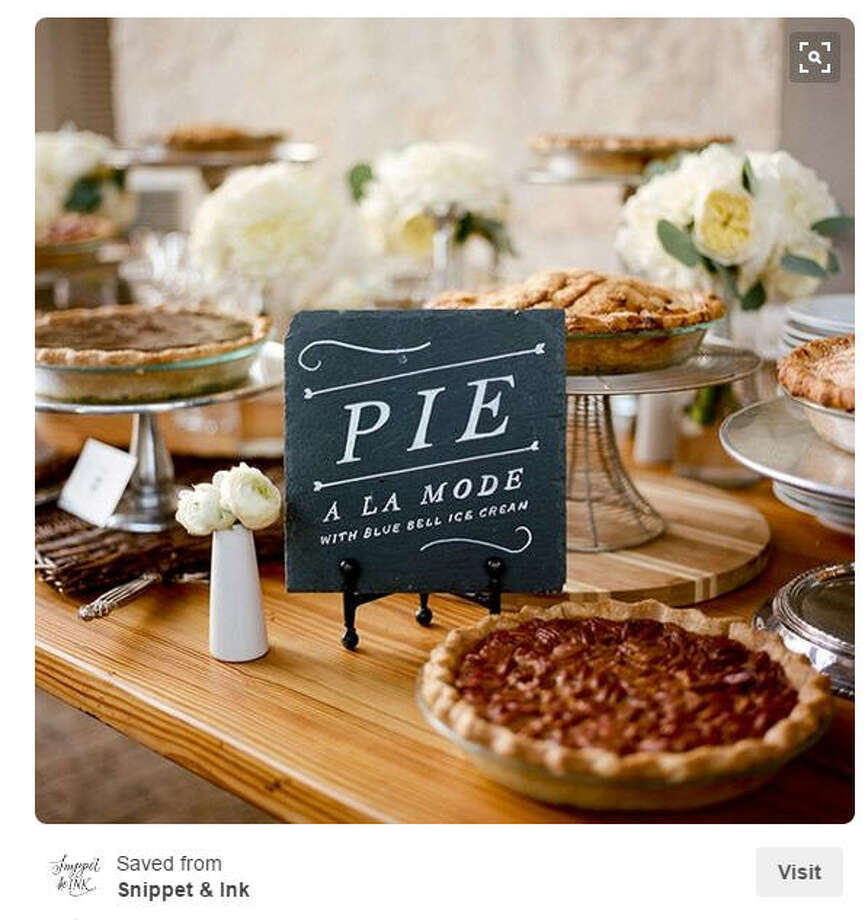 Taste of home:No true Texas wedding is complete without Goode Co. pecan pie and some Blue Bell.