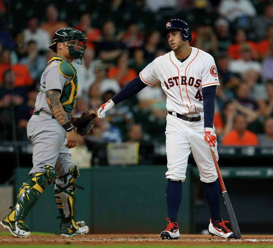 George Springer and the Astros begin a three-game series in Oakland on Monday night. Photo: Karen Warren, Houston Chronicle / 2016 Houston Chronicle