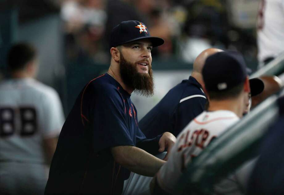 Astros lefthander Dallas Keuchel flew back to Houston to get checked out by doctors after being scratched from his scheduled start Tuesday in Cleveland. Photo: Karen Warren, Houston Chronicle / 2016 Houston Chronicle