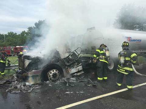 Tragedy averted on I-95 as gasoline truck ignites - The Hour