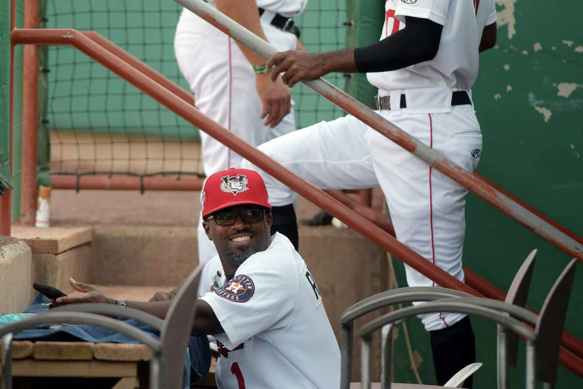 Tri-City ValleyCats manager Lamarr Rogers in the dugout during their game against Lowell on Sunday, Aug. 28, 2016, in Troy, N.Y. (Paul Buckowski / Times Union)