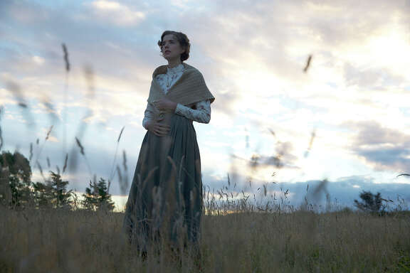 """Agyness Deyn stars as Chris Guthrie in """"Sunset Song,"""" which is based on a 1932 novel by Lewis Grassic Gibbon."""