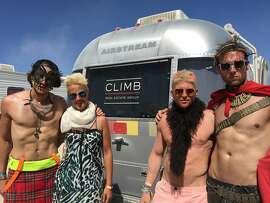 Climb Real Estate's Airstream makes a visit to Burning Man this week.