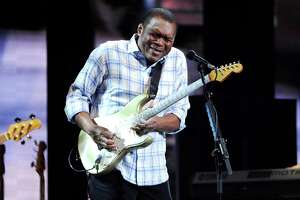 Guitarist Robert Cray performs at Eric Clapton's Crossroads Guitar Festival 2013 at Madison Square Garden on Friday April 12, 2013 in New York. (Photo by Evan Agostini/Invision for Hard Rock International/AP Images)
