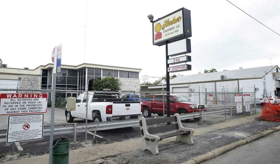 Flasher Equipment, a manufacturer of traffic signs that occupies nearly 5 acres of land across the river from the Pearl, is moving in a few weeks to a new facility on the West Side, opening up its land for development. Photo: Tom Reel /San Antonio Express-news / 2016 SAN ANTONIO EXPRESS-NEWS
