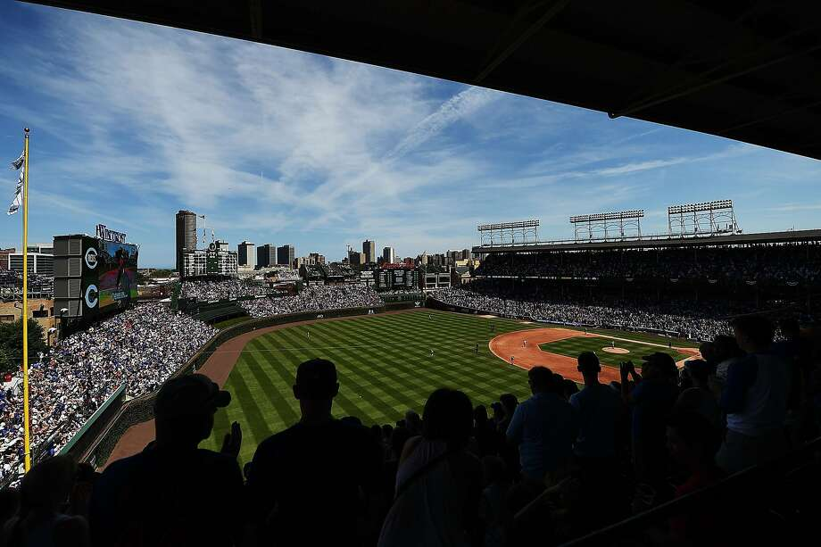Giants reliever George Kontos grew up going to games at Wrigley Field, where the fans are especially pumped in 2016. Photo: Stacy Revere, Getty Images