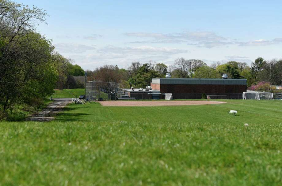 The athletic playing fields at Western Middle School in Greenwich, Conn. Wednesday, April 27, 2016. Neighbors' tests near the school have shown high levels of toxins in the soil. Photo: Tyler Sizemore / Hearst Connecticut Media / Greenwich Time