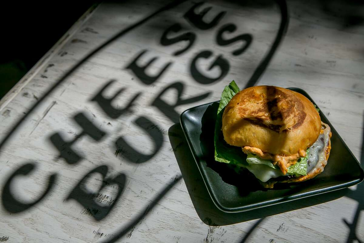 The Vegetarian Burger at Locol in Oakland, Calif. is seen on August 31st, 2016.