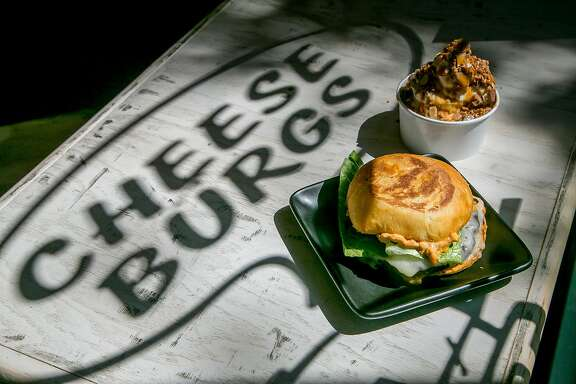 The Vegetarian Burger with the Sundae at Locol in Oakland, Calif. is seen on August 31st, 2016.