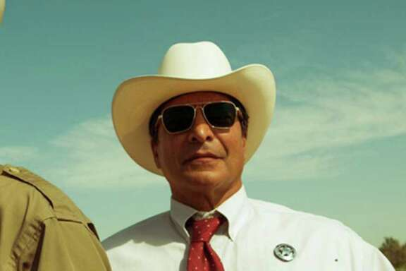 "Jeff Bridges, left, plays Marcus Hamilton and Gil Birmingham plays Alberto Parker in the film ""Hell or High Water."""