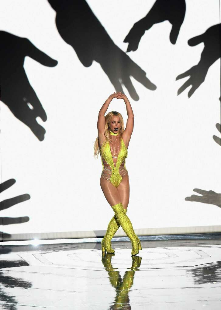 Britney Spears won the Michael Jackson Video Vanguard Award at the MTV VMAs. performs onstage during the 2016 MTV Video Music Awards at Madison Square Garden on August 28, 2016 in New York City.  (Photo by Michael Loccisano/Getty Images)