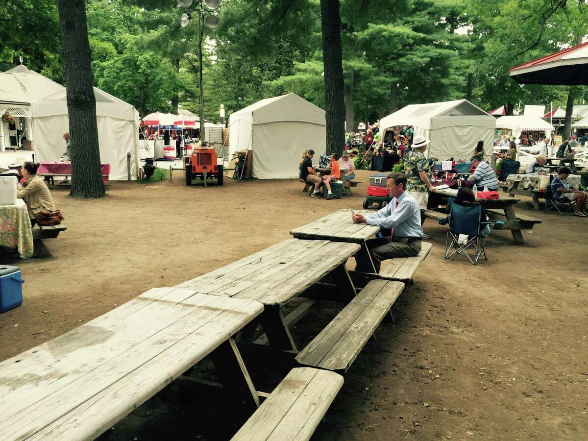 Saratoga's final week of racing began on Wednesday and the crowd was, uh, a little light to say the least. If you wanted a picnic table in the backyard, you had your choice. Things should pick up a little bit this weekend with three Grade I's ?- the Woodward, Spinaway and Hopeful ?- on the schedule before the meet ends. And it will most likely be a little tougher to get a table as fans want to bid the Spa ?- and summer ?- adieu. (Tim Wilkin)