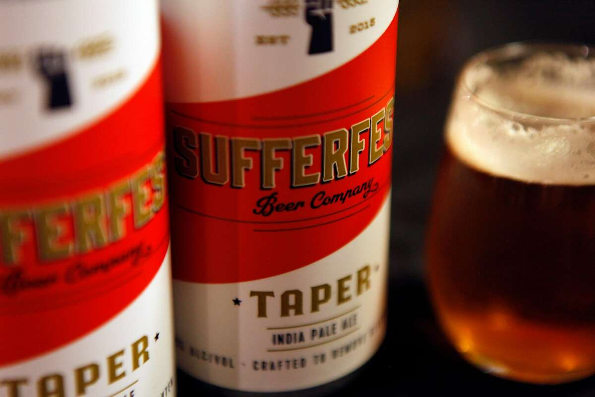 Sufferfest Beer Company's Taper IPA at Whole Food Potrero Hill in San Francisco, Calif., on Wednesday, August 31, 2016. Sufferfest beer is a gluten removed beer brewed in San Jose.