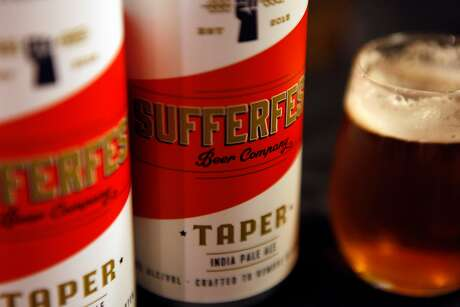 Sufferfest can't legally say their beers are gluten free, but they contain less than 10 parts per million gluten. Photo: Gabriella Angotti-Jones / The Chronicle 2016