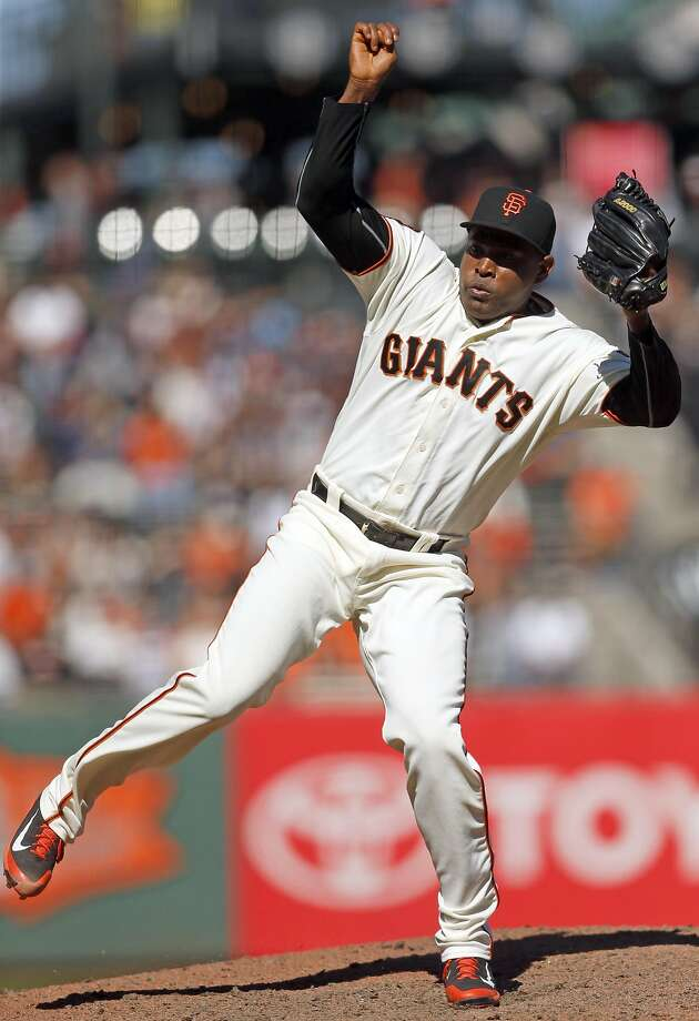 The Giants' demoted closer, Santiago Casilla, hasn't been the same pitcher this season. Photo: Scott Strazzante, The Chronicle