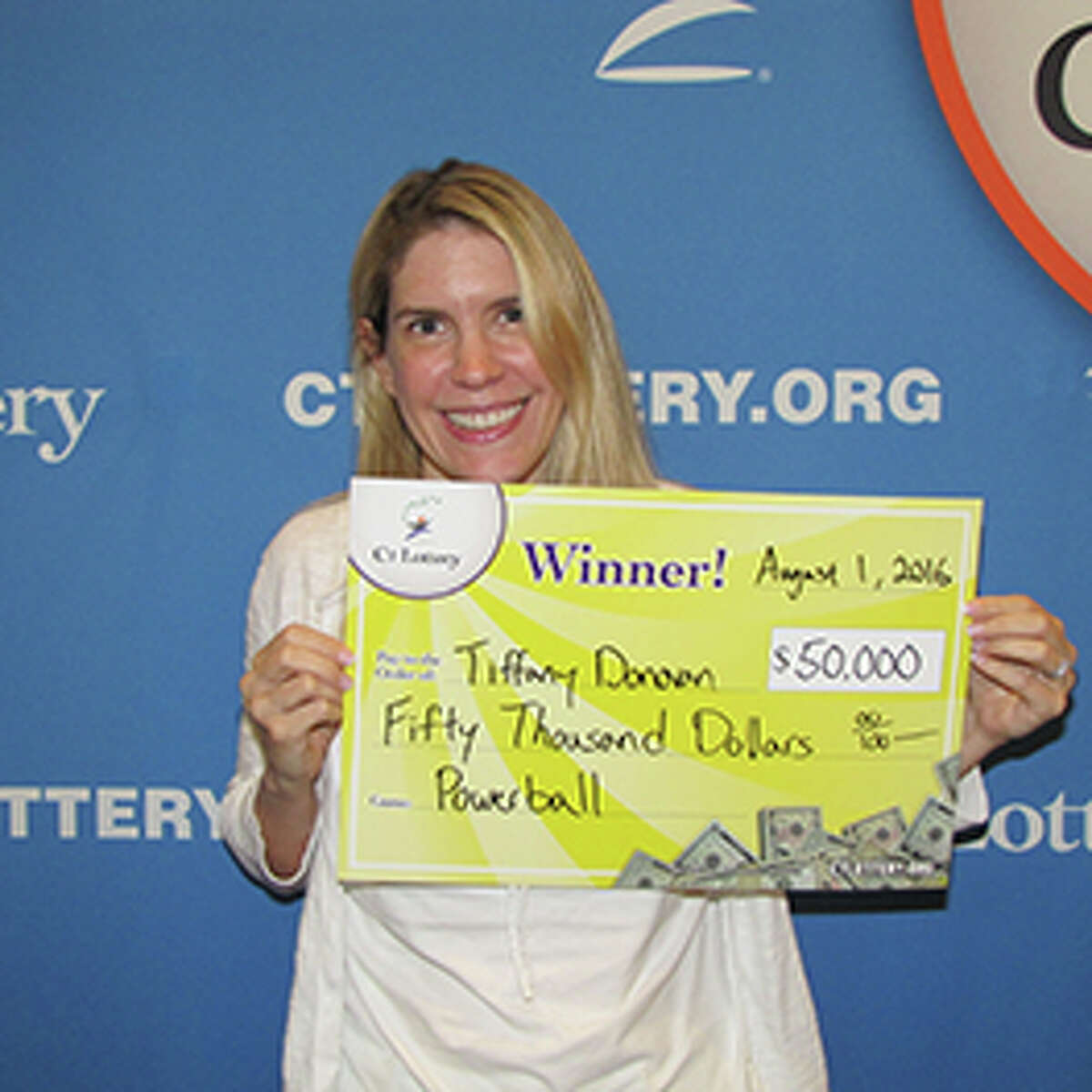 Coincidence is one way to describe Tiffany Donovan's $50,000 win on Powerball drawn on July 27, 2016. Donovan of Weston, had been celebrating her 16th anniversary when her friend suggested to play Powerball. Following the advice, Donovan decided to buy