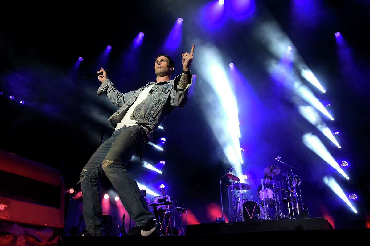 Adam Levine and Maroon 5 perform on stage in Houston in April. The band kicks off its North American tour Saturday at the AT&T Center.