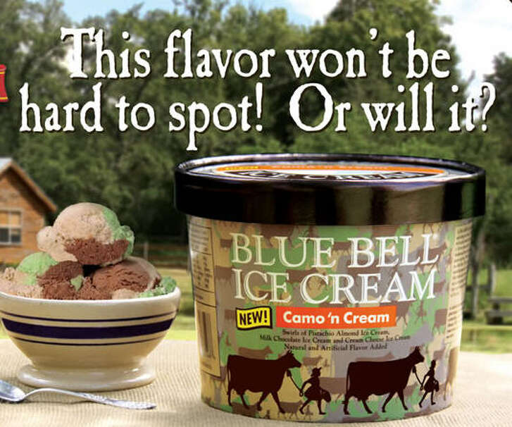 Just in time for kickoff of dove hunting season in Texas, Blue Bell Creameries has rolled out a camo-inspired ice cream flavor.