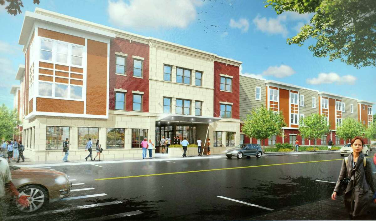 Rendering of the Joseph L. Allen Apartments on Albany Street in Schenectady's Hamilton Hill. (Provided)