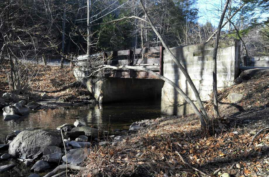 A bridge on Stepney Road in Redding at the intersection of Poverty Hollow Road is slated for repair. Photo Monday, Dec. 7, 2015. Photo: Carol Kaliff / Hearst Connecticut Media / The News-Times