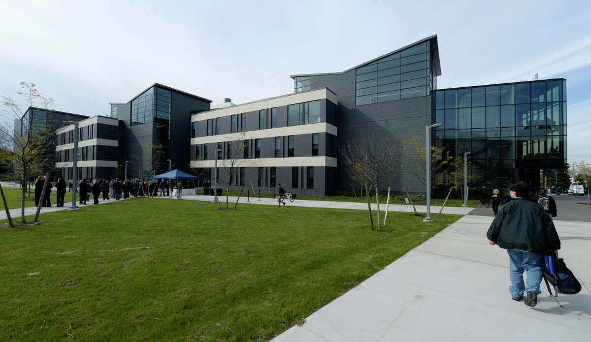 The Hudson Valley Community College's Science Building officially opened today Thursday Morning Oct. 10, 2013 in Troy, N.Y. The building cost $47.4 million and is 100,000 square feet in size. (Skip Dickstein / Times Union)