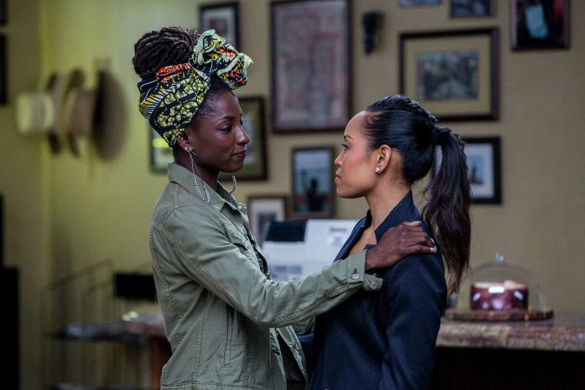 Two very different sisters Nova (Rutina Wesley) and Charley (Dawn-Lyen Gardner) reunite at their home in Louisiana when a tragedy happens that turns their lives upside down in 'Queen Sugar' on OWN.