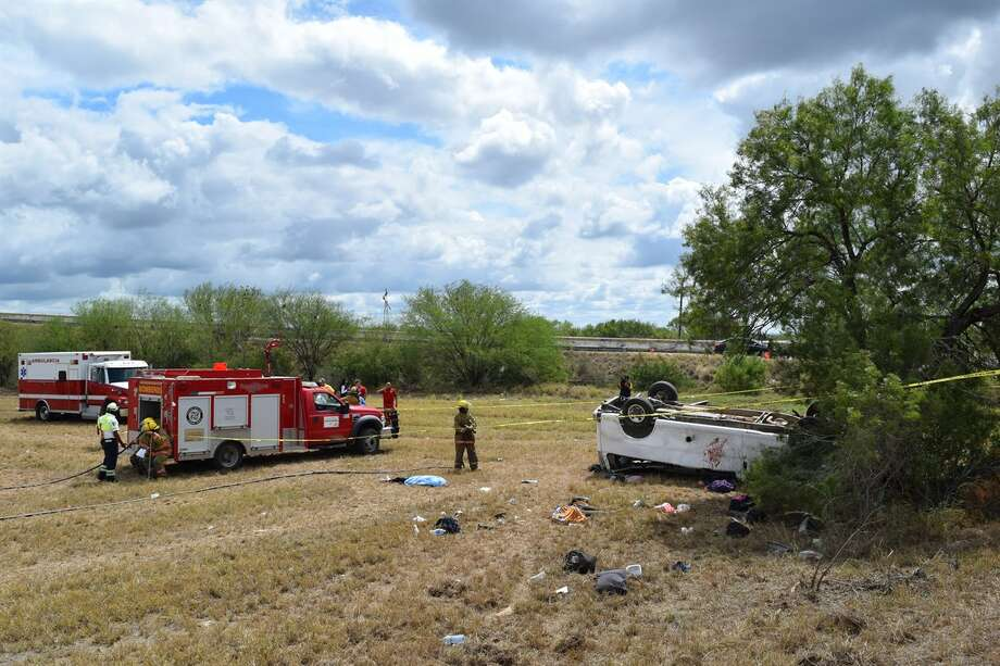 One Aug. 30, 2016 a van carrying 32 undocumented immigrants crashed near McAllen, killing five and injuring 27. Photo: Courtesy/El Mañana