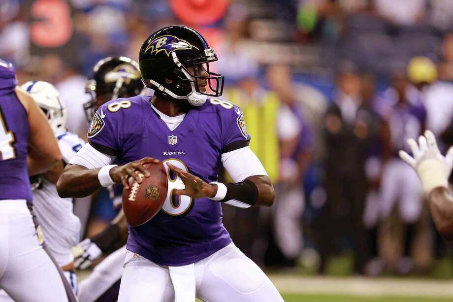 Baltimore Ravens quarterback Jerrod Johnson throws against the Colts during the second half of preseason game in Indianapolis on Aug. 20, 2016. Photo: R Brent Smith /Associated Press / FR171017 AP