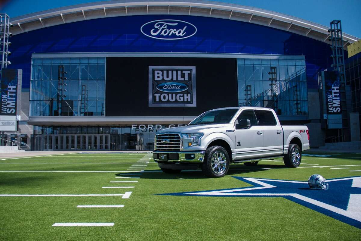 Ford has introduced a Dallas Cowboys themed truck in order to mark the opening of their new corporate headquarters in Frisco, Texas. Aug. 31, 2016.