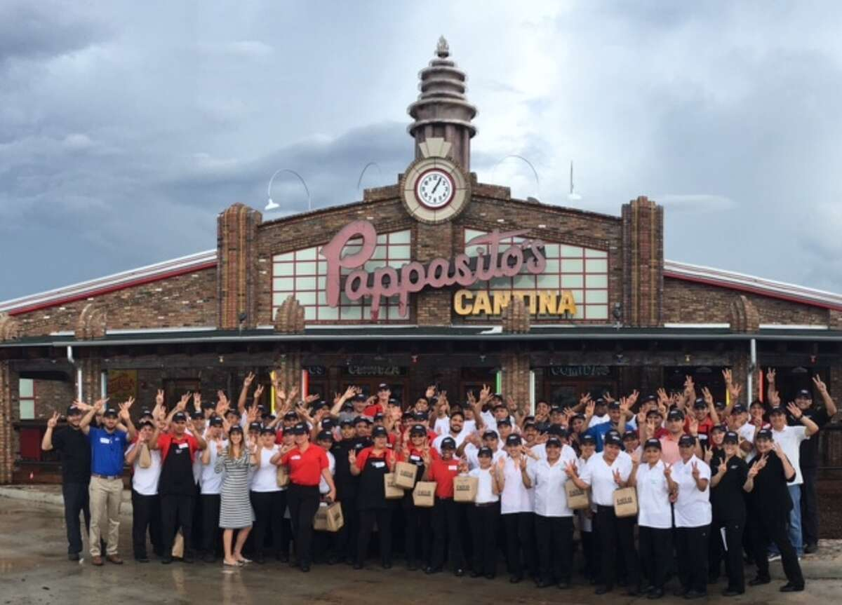 Employees in front of the new Pappasito's Cantina opening Sept. 13 in the Woodlands.