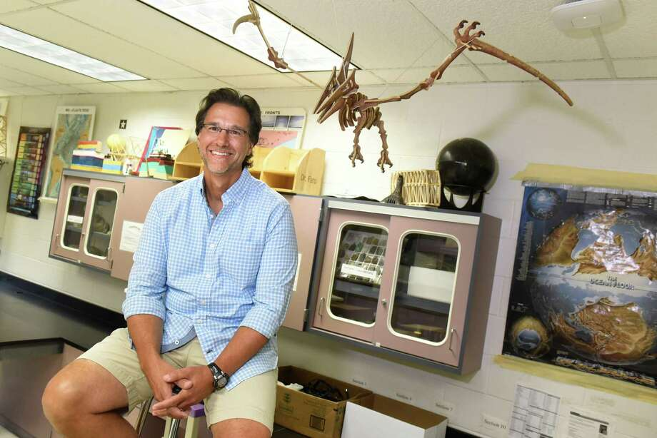 Salvatore Faro, whose tenth-grade students call him Dr. Faro, in his Earth Science room on Thursday, Aug. 25, 2016, at Ballston Spa High in Ballston Spa, N.Y. (Cindy Schultz / Times Union) Photo: Cindy Schultz / Albany Times Union