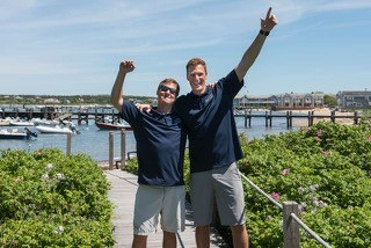 Jon Beery, left, and his business partner, Jake Hoefler opened Next Level Watersports in Nantucket, MA in April 2016.