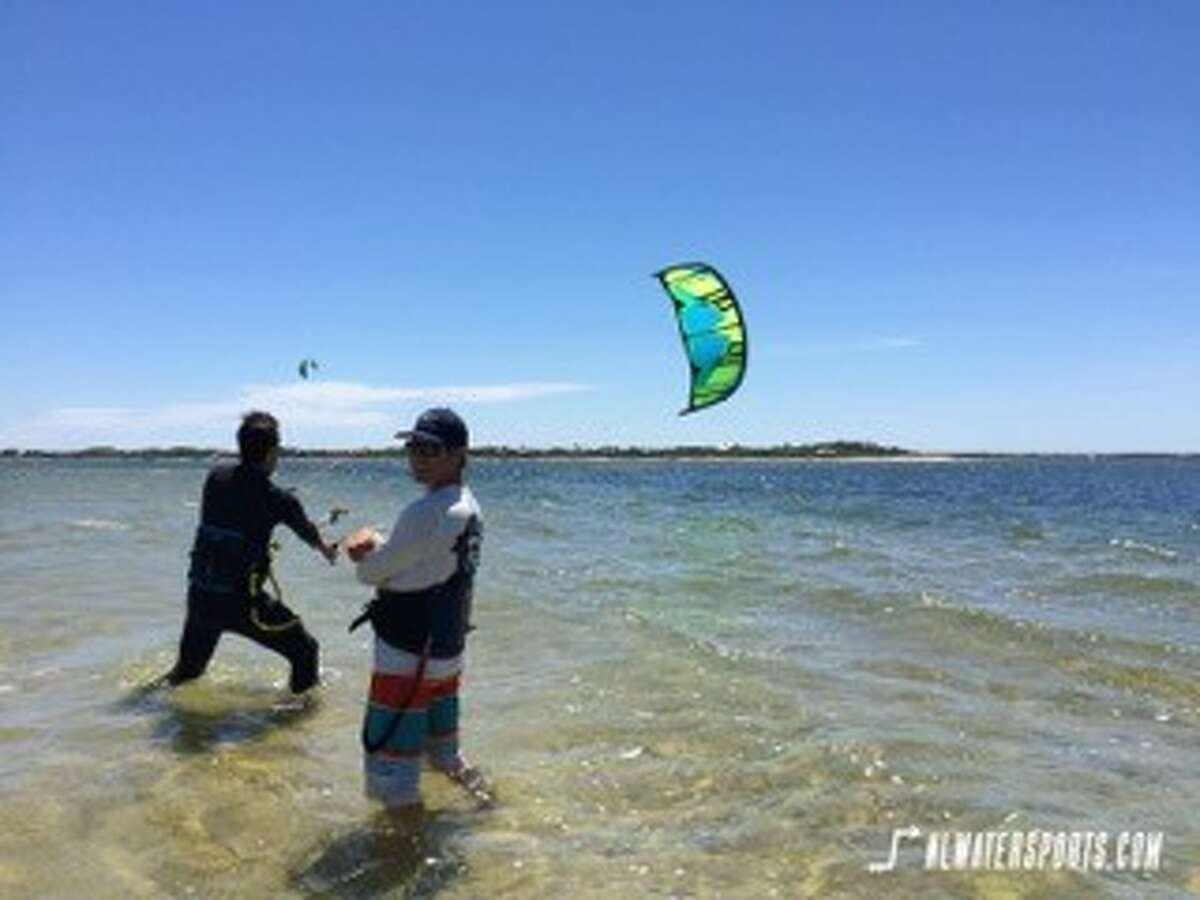 Jon Beery, right and his business partner, Jake Hoefler opened Next Level Watersports in Nantucket, MA in April 2016.