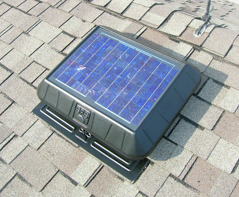 This is a solar attic fan from Innovative Skylights u0026&; Attics. Photo Courtesy & GHBA Remodelers Council: Attic ventilation can save you some cold ...