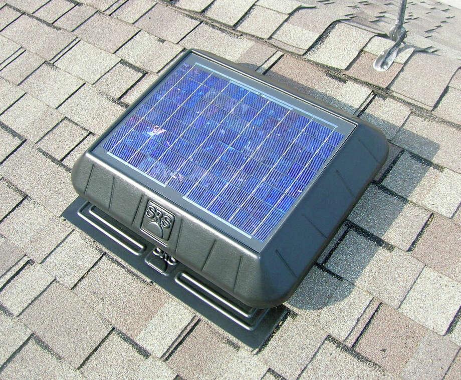 This is a solar attic fan from Innovative Skylights & Attics. Photo: Courtesy Of Innovative Skylights & Attics